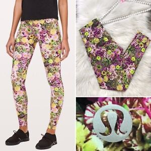 Lululemon Wunder Under High Rise Tight RARE Floral Print Size 6 Leggings
