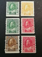 Canadian Stamps -- Canada 1912-1924 King George Perf 8 125-130 (SCOTT 341 USD)