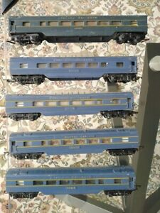 Triang, 5 blue VR coaches, 3 X observation ,  early , OO