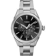 Orologio Timex TW2P97000 in acciaio moda uomo classic multifunzione nero