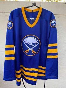 CCM BUFFALO SABRES 1987 NHL VINTAGE HOCKEY ROYAL BLUE JERSEY SZ L