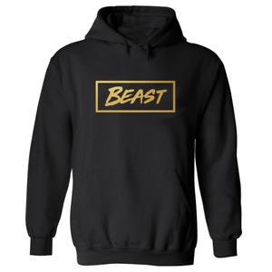 MR BEAST BOX HOODIE Beast top Kids UNISEX Black Gold Print gamer T-Shirt