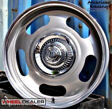 "AMERICAN RACING VN506 RALLY WHEELS & CAPS 20"" STAGGERED GM C10 6-LUG SWB LWB"