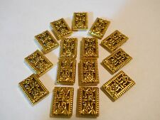 20 GOLD PLATED TIBETAN BALI 2 HOLE SLIDER SPACER BEADS BAR