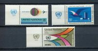 19128A) United Nations (New York) 1974 MNH Neu Air Mail 3v + Lab