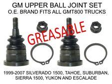 1999-2007 GM Truck Greasable Upper Ball Joint Set (Silverado Sierra Tahoe Yukon)