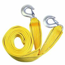 US 3 Tons Car Tow Cable Towing Strap Rope With Hooks Emergency Heavy Duty