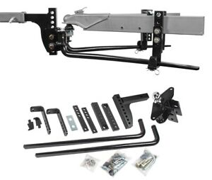 """Reese 11.5K Trailer Weight Distribution Hitch + Sway + Drop Shank + 2-5/16"""" Ball"""