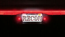 RECON 1997-2015 ALL FORD TRUCKS 6k WHITE LED LICENSE PLATE LIGHT FACTORY FIT RED
