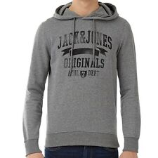Jack and Jones Mens Full Zip Hoody / Sweat Top, Winter Wear,Embroidered Quilting