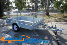 7x5 Hot Dip Galvanised Fully Welded Tipper Box Trailer With 600mm Removable Cage