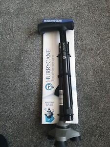 Drive Devilbiss Height Adjustable & Foldable Hurrycane Walking Stick - Black