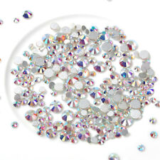 1440pcs Flat Back Nail Art Rhinestones Glitter Gems 3D Tips DIY Decoration