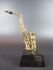 Sassofono Negozio Souvenir Modello Musica Strumento con Legno Attacco,13 cm