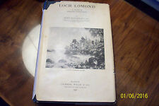 Loch Lomond - A Study in Angling Conditions - 1931 1st Edition-Henry Lamond