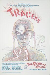Original Vintage Poster Paul Davis Tracers Public Theater Vietnam Veteran 1985