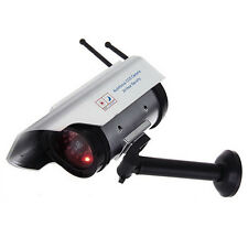 Outdoor Solar Dummy Fake Security Camera CCTV Surveillance Imitation with IR LED