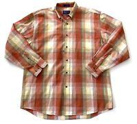 Pendleton Casual Button Down Plaid Striped Dress Suit Shirt Mens Size Large L