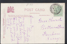 Family History Postcard - Church - Bethune House, Farnham, Surrey   RF757