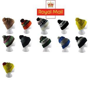 Pom Pom Knit Winter Beanie Hat Cap Men's Women's Bobble Cap Different Styles