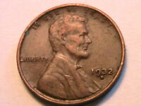1932-D USA Lincoln Wheat Cent Brown Ch XF Original One Penny Bronze Coin