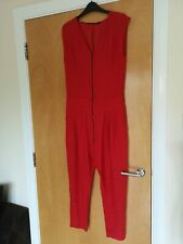 Ladies ZARA Jumpsuit Playsuit Romper Red Size S 10 12 Smart Casual Day Party