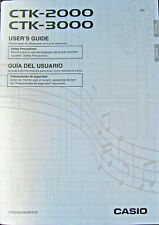 Casio CTK-2000 CTK-3000 Advanced Keyboard Original Users Guide Owner's Manual