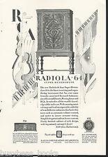 1928 RCA RADIOLA 64 advertisement, Radiola 60 & 103