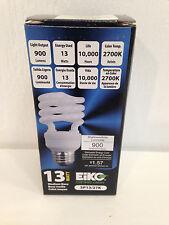 EiKO SP13/27K 13 w T4 Compact Fluorescent Light Bulb Lamp 10,000 Hour Lifetime