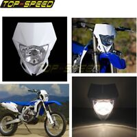 Supermoto Motorcycle White Headlight Universal MX For YAMAHA WR HONDA KTM SUZUKI