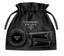 L'Homme Prada Milano Body Soap,After Shave Gel 30ml, Tonic Cream 30ml New In Box