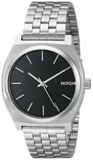 Reloj De Pulsera Nixon hombres Esfera Negra el tiempo Teller De Acero Inoxidable A045000