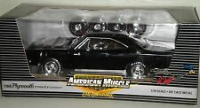 1/18th 1968 Plymouth Hemi Road Runner Black  (BLEMISHED)