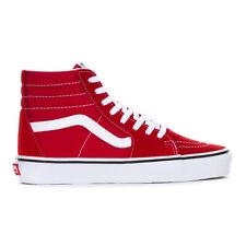 """Vans """"SK8-Hi"""" Sneakers (Racing Red/True White) Men's High Top Suede Skate Shoes"""