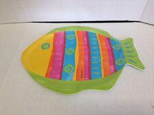 Fish Shaped Melamine Platter Colorful summer centerpiece dinner beach server