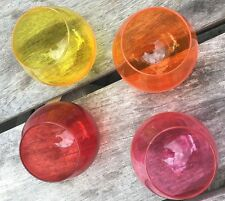 Bright ~ Roly Poly ~ Glasses ~ Set of 4 ~ Museum of Modern Art ~ Wine ~ Fun ~EUC