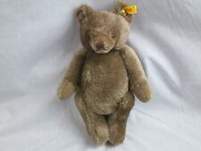 STEIFF JOINTED MOHAIR TEDDY BEAR 0202/36 BRASS BUTTON BROWN EYES GROWLER PLUSH V