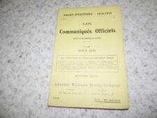 1917.Pages historia 115.Communiqués oficiales Agosto 1916.14-18
