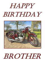 Vintage Triumph Personalised Hand Made Printed Card, any name, age, relation