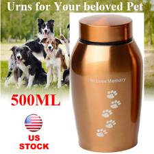 Cremation Urns Ashes Memorial Pet Cat Dog Stainless Steel Secure Screw Lid 500ml