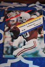 1987 Ursinus College Bears vs Washington & Lee (VA) Football Program VG Cond