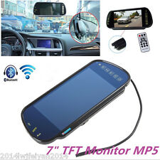 "7"" TFT LCD Car Rear View Backup Mirror Monitor Bluetooth MP5/DVD/TV/MTV Screen"