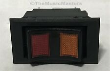 Car Boat RV 12 Volt Lighted Amber/Red On/Off/On Rocker Power Accessory SWITCH