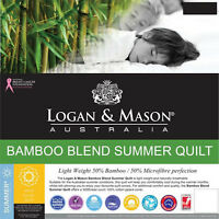 LOGAN AND MASON BAMBOO SUMMER QUILT Doona | Quilt Single Double Queen King Super