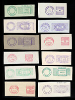 US CUT EARLY POSTAGE PERMIT & METER DOUBLE RING ⭐ LOT OF 12 ⭐ 1930S - 1950S