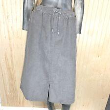 "Madewell Vintage Women Large 28"" Skirt Gray Corduroy Pull On Knee Length USA"