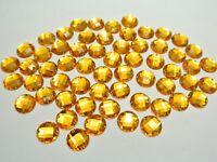200 Gold Flatback Acrylic Round Sewing Rhinestone Button 10mm Sew on beads