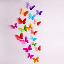 18pcs 3d Butterfly Wall Decals Removable Sticker Kids Art Nursery Magnets Decor Multi Color 03