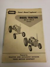 Ford 801 901 D Diesel Tractor Supplement Owners Operators Manual