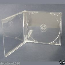100 CUSTODIE JEWEL CASE TRASPARENTI CLEAR per CD DVD vergini PER verbatim BOX24